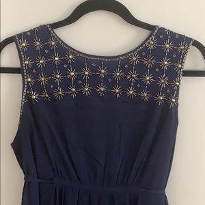 Navy Beaded Dress